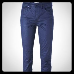Tory Burch Waxed Effect Jeans